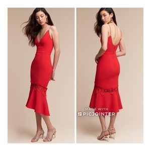 BHLDN Said Nicholas Poppy Red Amina Dress 6